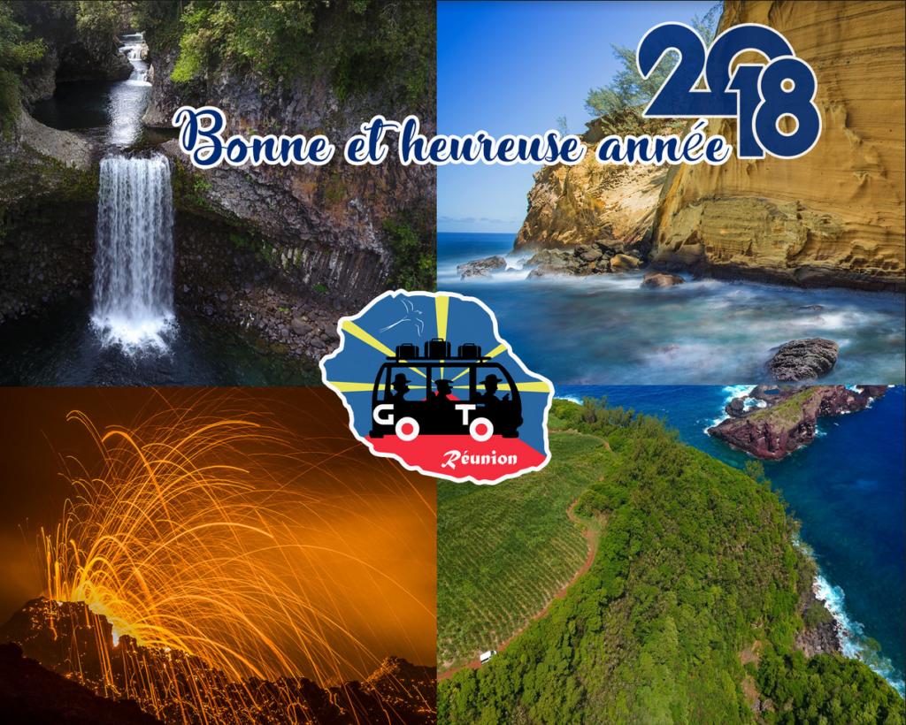 Bonne et heureuse année 2018 avec Go To Réunion